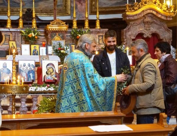 Църковна служба за Цветница в българската църква в Рим
