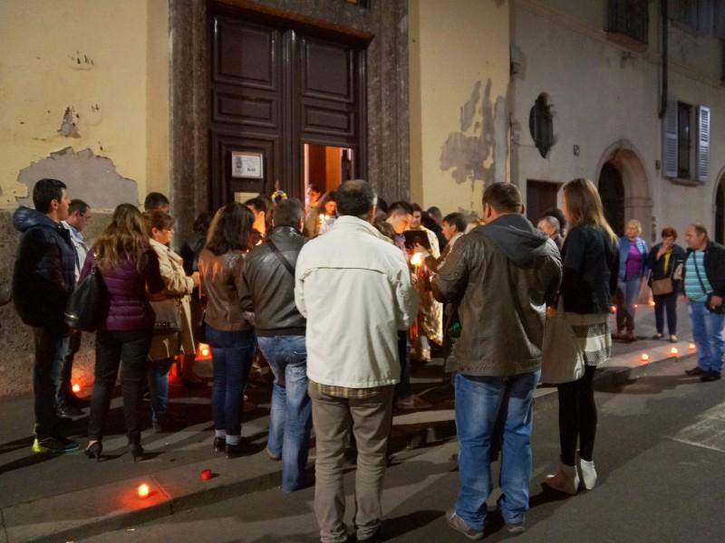 Великденска служба в българската църква в Милано, 11.04.2015 г., сн. Яна Гергова