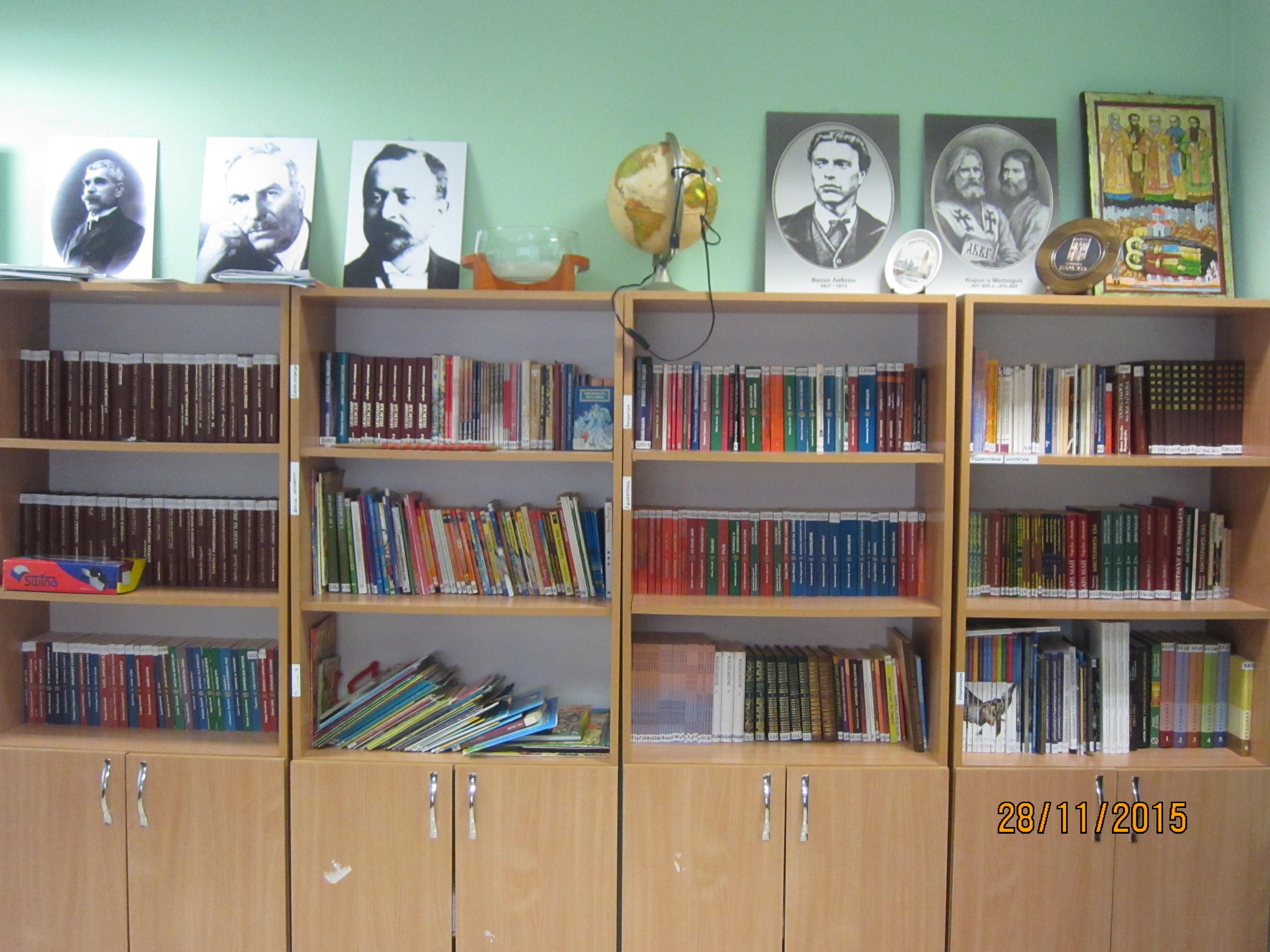 Част от училищната библиотека, ползвана от учители, ученици, родители и други българи в Солун (сн. Таня Матанова)